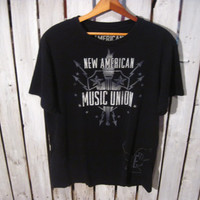 New American Music Union, Concert T-Shirt, Size Large