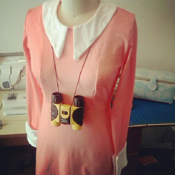 Suzy Moonrise Kingdom Jersey Adult Dress Made to Order