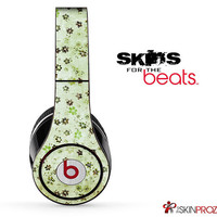 Vintage Green Scattered Skin For The Beats by Dre Studio, Solo, Pro, Mix-R or Wireless