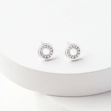 Quite a Sight Sterling Silver Rhinestone Earrings