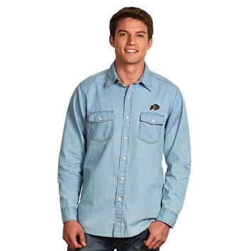 Antigua Colorado Buffaloes Chambray Button-Down Shirt
