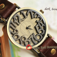 WA13  Women or Men Leather Watch by littleredboutique008 on Etsy