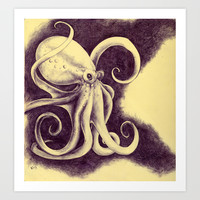 Octopus Art Print by Anna Tromop Illustration