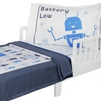 Bedtime Bots - Toddler Bedding Set
