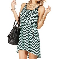 Mint Chevron Print Tunic