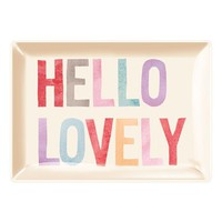 Fringe Studio 'Hello Lovely' Glass Trinket Tray - Pink
