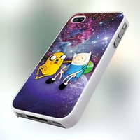 Jake And Finn Nebula Adventure design for iPhone 4 or 4S Case / Cover