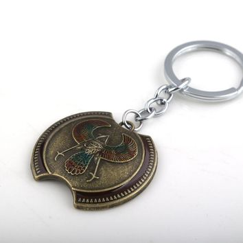 SC Fashion Game Assassin's Creed Amulet Key Chains High Quality Vintage Antique Bronze Zinc Alloy Men Girl Keyring Keychains