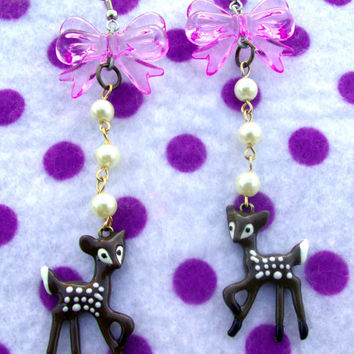 Darling Bambi Deer Fantasy Creature Earrings