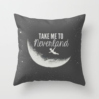 Neverland Throw Pillow by Pink Berry Patterns