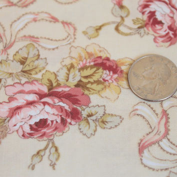 Sweet Juliet by Red Rooster for Wilmington Prints/Victorian/Flower/Rose/Shabby Chic/Fabric by the Fat Quarter/Half Yard/Yard/PRICE VARIES