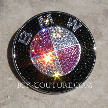 Swarovski Crystal BMW Emblem Badge is included
