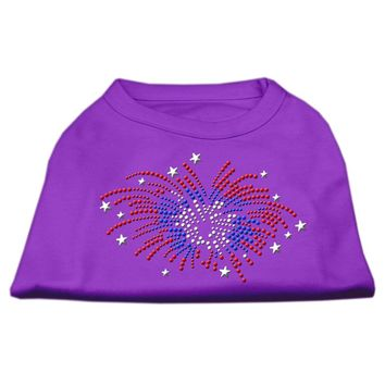 Fireworks Rhinestone Dog Shirt Purple