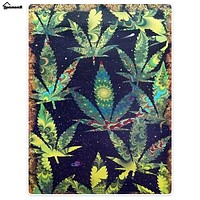 Blanket Comfort Warmth Soft Plush Throw for Couch A Puff In Time Weed Ganja Marijuana Green leaves