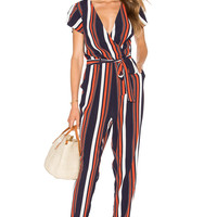 Tularosa Montana Jumpsuit in 70's Stripe
