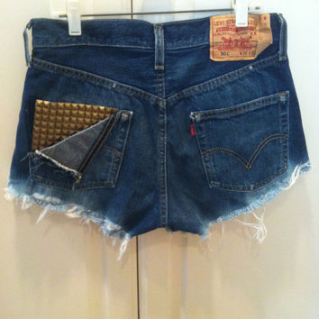 Distressed and Studded Vintage Levis