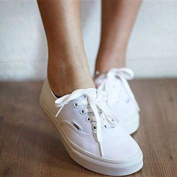 vans atwood low women s black canvas skate shoes white  number 1