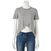 Blink Cross-Front Stripe Tee - Juniors, Size: