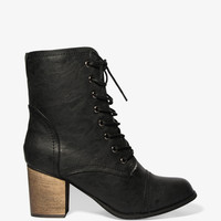 Faux Shearling Lace-Up Boots