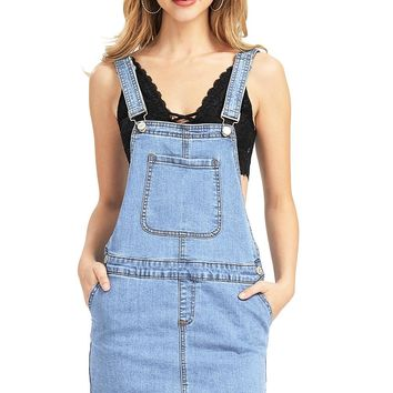 Reworked Denim Overall Dress