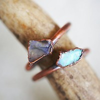 Hawk House Womens Raw Opal Ring