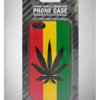 Rasta Stripe with Leaf iPhone 5 Snap Cover