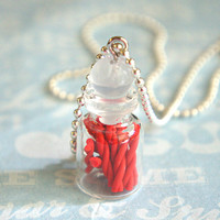 twizzlers in a jar necklace