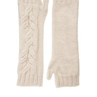 Johnstons Cable Knit Wristwarmers