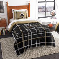 Purdue Boilermakers NCAA Twin Comforter Set (Soft & Cozy) (64 x 86)
