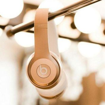 Beats Solo 3 Regardless of age Wireless Magic Sound Bluetooth Wireless Hands Headset MP3 Music Headphone With Microphone Line-in Socket TF Card Slot For Couple Gold