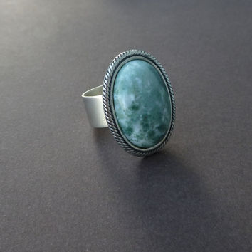 the perfect cocktail ring in tree agate and silver