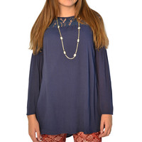 Poche 1913 Bella Tunic in Blue - Brother's on the Boulevard