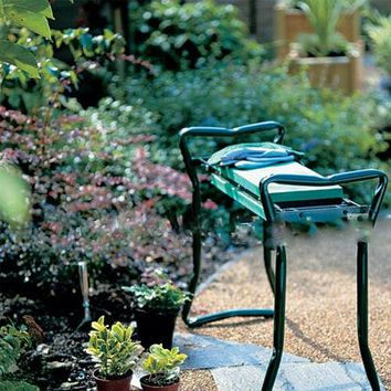 """Garden Kneeler and Seat Bench Chair Stool Folding 19.5""""x24""""x10"""" Green Color"""