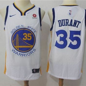 DCCK Golden State Warriors 35 Kevin Durant Swingman Jersey