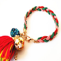 Hand-woven fashion personality tassel bracelet hot summer trends accessories