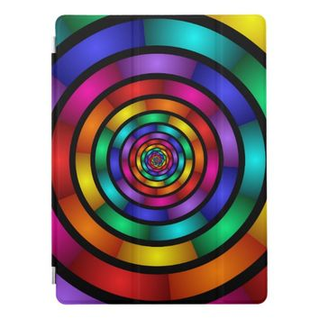Round and Psychedelic Colorful Modern Fractal Art iPad Pro Cover