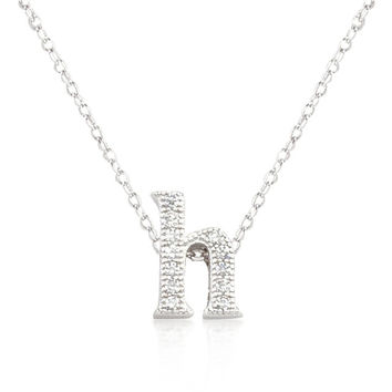 Micro-pave Initial H Pendant