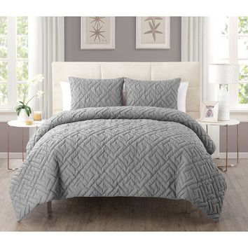 Laurel Creek Ainsley 3-piece Embossed Reversible Down Alternative Comforter Set | Overstock.com Shopping - The Best Deals on Comforter Sets