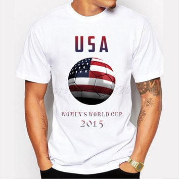 New fashion men's USA flag with women face design creative t-shirt heart shaped USA flag male casual tops hipster funny tee