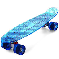 Skateboard Longboard with LED Wheels - 27.5 Inch