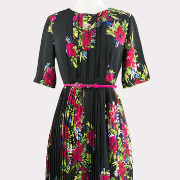 Raquel Floral Pleated Dress