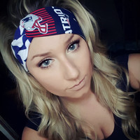 New England Patriots & Chevron Twist Headband