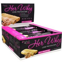 NLA for Her - Her Whey Lean Protein Bar - 20g of Protein, Gluten Free, Low Fat, Low Net Carbohydrates, Great Taste - Cookie Dough - 12 Count Box