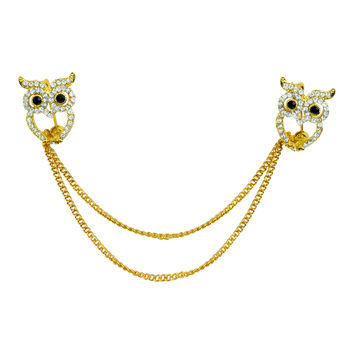 Evelots® Owl Sweater, Shawl, Cardigan Clip Pin, Jewelry, Goldtoned