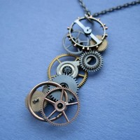 Clockwork Pendant ThirtyTwo Not Quite Steampunk by amechanicalmind