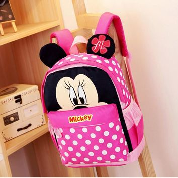 2017 Cartoon Mickey children backpacks/kids kindergarten backpack/kid school bags/Satchel for boys and girls free shipping