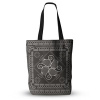 "Famenxt ""Paisley Into The Dreams Dark"" Gray Digital Everything Tote Bag"