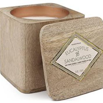 wood 5oz Eucalyptus & sandalwood Candle