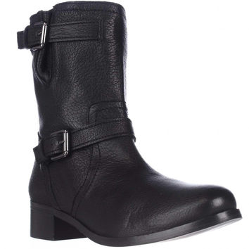 Delman D-Max-G Casual Pull On Ankle Boots - Black Shrunken