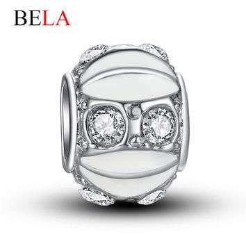 Alloy+Silver Plated Big Hole Beads Charm Fit Pandora Bracelets & Necklace Accessories